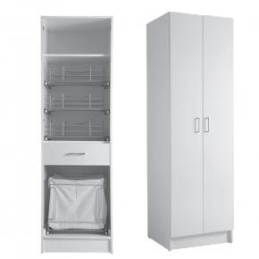 Итальянские постирочные раковины Мебель и оборудование для постирочной комнаты. Colavene Colf 9 высокий шкаф для постирочной с корзиной для белья