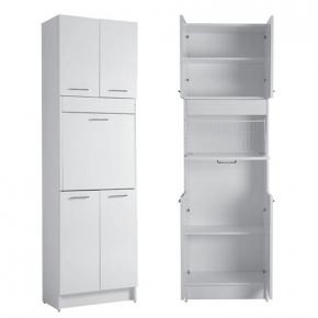 Итальянские постирочные раковины Мебель и оборудование для постирочной комнаты. Colavene Brava 3 высокий шкаф для постирочной с корзиной для белья