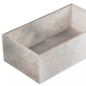 Аксессуары для ванной настольные. Alabaster настольный глубокий лоток натуральный камень алебастр
