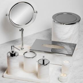 Аксессуары для ванной настольные. Alabaster настольные аксессуары для ванной натуральный камень алебастр