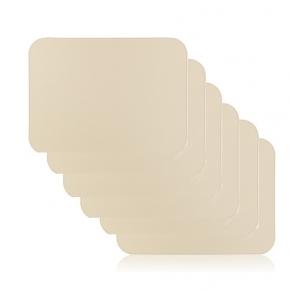 Посуда Столовые приборы Декор стола Deluxe. Подставки маты кожаные закруглённые углы настольные для посуды и приборов Vanny GioBagnara слоновая кость