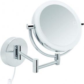 . Maike двухстороннее настенное косметическое зеркало с подсветкой LED и увеличением 1х3 и 1х7