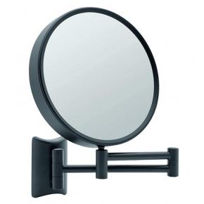 . Lola чёрное косметическое зеркало двухстороннее настенное с увеличением 1х3 и 1х7