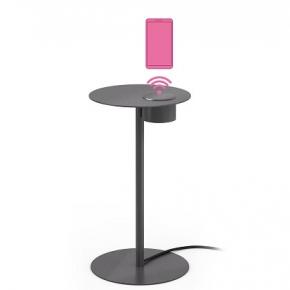 Аксессуары и Мебель для дома. Oslo круглый столик с встроенной беспроводной зарядкой