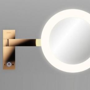 Зеркала косметические с подсветкой увеличением настенные настольные Зеркала с присосками. ALISEO зеркало Led MOON DANCE с подсветкой и увеличением х3 настенное T3 золото розовое