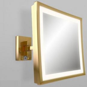 Зеркала косметические с подсветкой увеличением настенные настольные Зеркала с присосками. Aliseo LED CUBIK T3 косметическое зеркало с увеличением Х3 и подсветкой Золотое настенное
