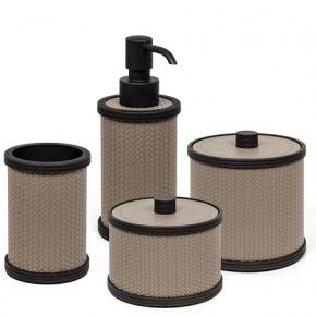 Аксессуары для ванной настольные. Pinetti Carol кожаные аксессуары для ванной