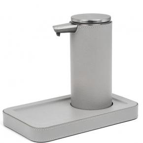 Санитайзеры. Igea Sanitizing санитайзер кожаный настольный с подставкой серый сенсорный
