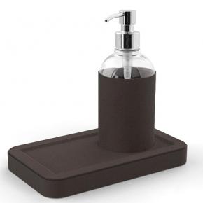 Санитайзеры. Igea Sanitizing санитайзер кожаный настольный с подставкой прозрачный Coffee
