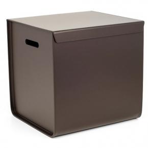 Хранение и порядок. Pinetti Atena Taupe кожаная коробка универсальная ёмкость таупе