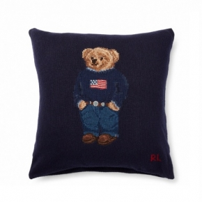 Декоративные подушки Deluxe. Polo Bear подушка с декором Ralph Lauren