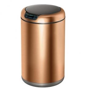 Сенсорные вёдра и баки для мусора. EKO сенсорное ведро для мусора 12 литров Бронза R2D2 круглое