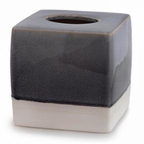 . Салфетница Kassatex Grigio керамическая куб