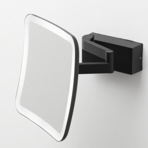 Зеркала косметические с подсветкой увеличением настенные настольные Зеркала с присосками. Vision чёрное матовое настенное зеркало с подсветкой увеличение х5