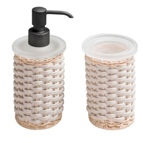 . Giobagnara Calais аксессуары для ванной кожаные плетёные настольные бронза