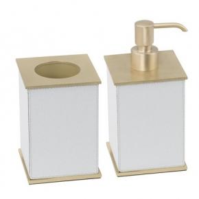 . Giobagnara Firenze кожаные аксессуары для ванной настольные латунь