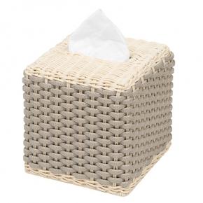 Салфетницы настольные настенные. Giobagnara ANTIBES куб салфетница плетёная раттан кожа наппа