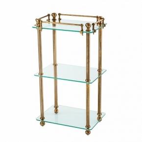 Этажерки для ванной. Eichholtz Bathroom Rack Devon стеклянная этажерка тройная состаренная латунь