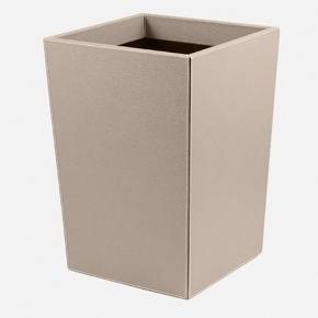 Аксессуары для кабинета Deluxe. Ведро кожаное Gio waste paper baskets by GioBagnara Mud