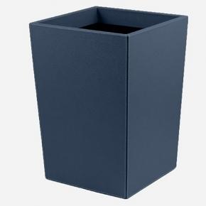 . Ведро кожаное Gio waste paper baskets by GioBagnara Royal Blue синее