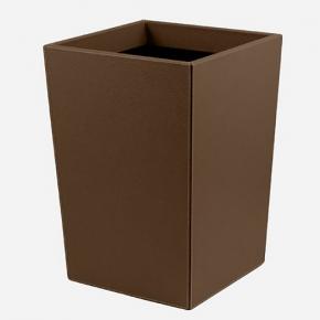 . Ведро кожаное Gio waste paper baskets by GioBagnara Brown коричневое