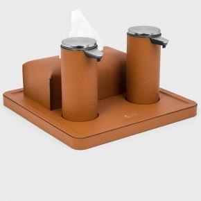 Санитайзеры. Igea Sanitizing санитайзер кожаный набор настольный