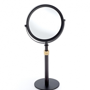 Зеркала косметические с подсветкой увеличением настенные настольные Зеркала с присосками. Настольное косметическое зеркало двухстороннее с увеличением 1х5 Club тёмная бронза матовое золото