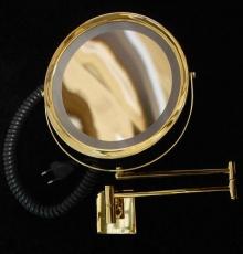 Зеркала косметические с подсветкой увеличением настенные настольные Зеркала с присосками. Косметическое зеркало с подсветкой и увеличением настенное RIZZO золотое