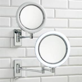 Зеркала косметические с подсветкой увеличением настенные настольные Зеркала с присосками. Зеркало косметическое двухстороннее с LED подсветкой и увеличением 1х1 и 1х7 настенное