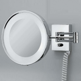. Decor Walther Косметическое зеркало с подсветкой и увеличением 1х3 или 1х5 CHROME 25 настенное