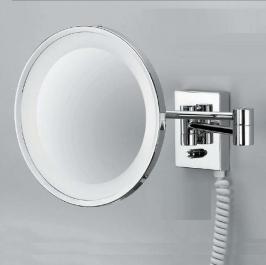Зеркала косметические с подсветкой увеличением настенные настольные Зеркала с присосками. Decor Walther Косметическое зеркало с подсветкой и увеличением 1х3 или 1х5 CHROME 40 настенное