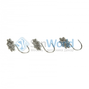 Набор из 12 крючков для шторки Braided Medallion Silver 11166G-SLV