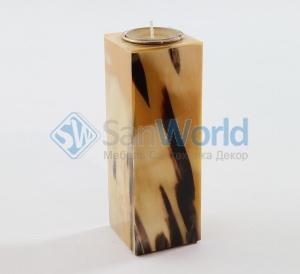 Подсвечник из светлого рога (10,5 см)