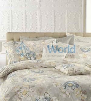 Постельное белье двуспальное с пододеяльником 250х200 Antea Бежевый от Blumarine art.76471