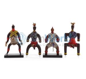 Фигура воина африканского племени