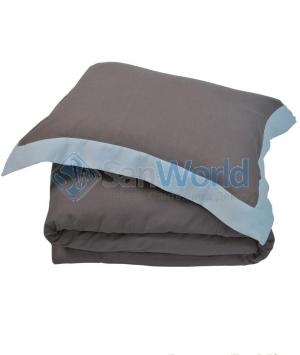 Постельное белье HAMPTON двуспальное евро (200х220) Коричневый/Морская пена от Casual Avenue