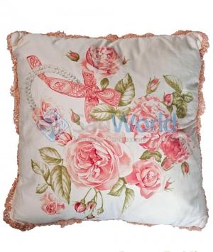 Декоративная подушка Christal Роза (42х42) от Blumarine