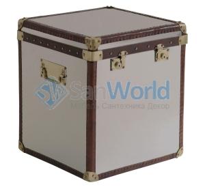 Сундк Chrome Cube Leather Trim