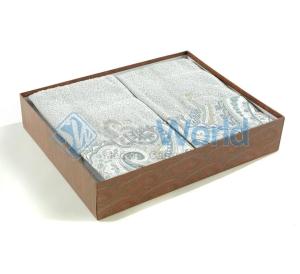 Комплект махровых полотенец (небесно-голубой)