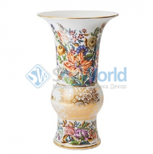 Ваза Фрукты и цветы в манере старых мастеров 25 см