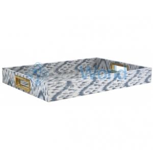 IKAT LACQUER BLUE Aerin Lauder поднос деревянный лак