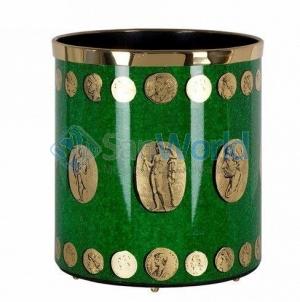 Fornasetti Cammei корзина для бумаг ведро зелёное