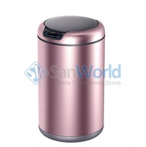 EKO сенсорное ведро для мусора 12 литров круглое Розовое золото