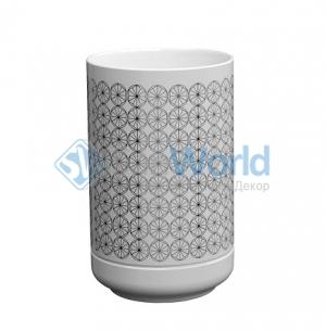 EQUILIBRIUM POMDOR Circles фарфоровые аксессуары для ванной стакан хром