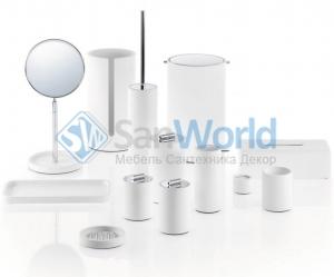 Аксессуары для ванной настольные композитные белые Stone