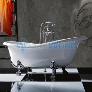 TW 176 Ванна на лапах, белый/хром