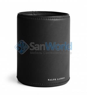 Ralph Lauren Home BRENNAN BLACK чёрный стаканчик для ручек кожаный