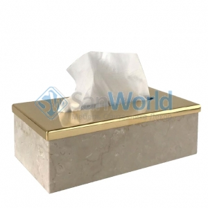 Elegance Gold Botticino мраморная салфетница Золото