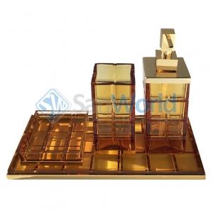 Palace AMBRA хрустальные аксессуары для ванной настольные Золото