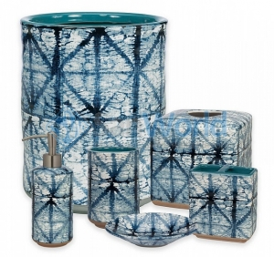 Керамические аксессуары для ванной настольные Creative Bath Shibori